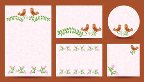 Set of templates for wedding - invitation vector cards Royalty Free Stock Photos