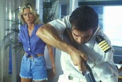 Set of 'Temptation' during gun scen Stock Photos