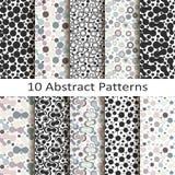 Set of ten abstract patterns Stock Photos