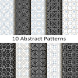 Set of ten abstract patterns Royalty Free Stock Images