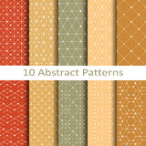 Set of ten abstract patterns Royalty Free Stock Photo