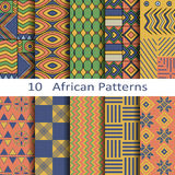 Set of ten african patterns Royalty Free Stock Photos