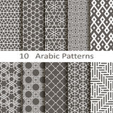 Set of ten Arabic patterns Royalty Free Stock Images