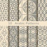 Set of ten Arabic patterns. Set of ten vector Arabic patterns Royalty Free Stock Images