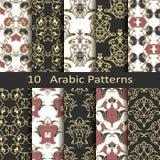 Set of ten Arabic patterns Royalty Free Stock Photos