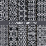 Set of ten arabic patterns Stock Photos
