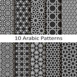 Set of ten arabic patterns. Set of ten vector arabic patterns Royalty Free Stock Photography
