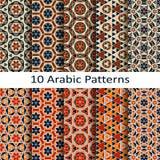 Set of ten arabic patterns Stock Images