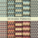 Set of ten arabic patterns Royalty Free Stock Photography