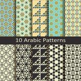 Set of ten arabic patterns Royalty Free Stock Image