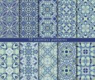 Set of ten arabic patterns Royalty Free Stock Photo
