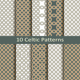 Set of ten celtic patterns Royalty Free Stock Photo