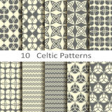 Set of ten Celtic patterns Stock Images