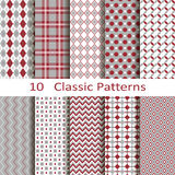 Set of ten classic patterns Royalty Free Stock Images