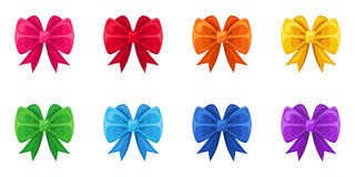 Set of ten colorful bows. Stock Image