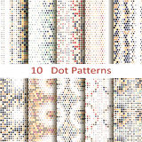 Set of ten dot patterns Stock Photo