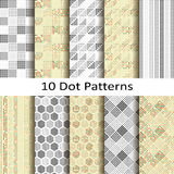 Set of ten dot patterns Stock Images