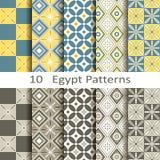 Set of ten Egypt patterns Royalty Free Stock Photo