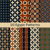 Set of ten egypt patterns Stock Photos