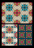 Set of ten ethnic patterns Stock Image