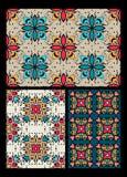 Set of ten ethnic patterns Stock Image