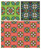 Set of ten ethnic patterns. Set of seamless patterns in ethnic style. 10 eps Vector Illustration
