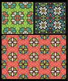 Set of ten ethnic patterns Royalty Free Stock Photo