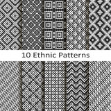 Set of ten ethnic patterns vector illustration