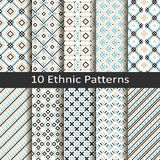 Set of ten ethnic patterns Stock Photo