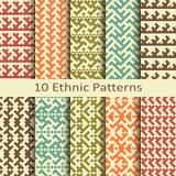 Set of ten ethnic patterns Royalty Free Stock Photos