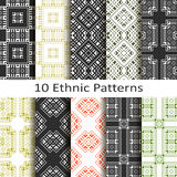 Set of ten ethnic patterns Royalty Free Stock Photography