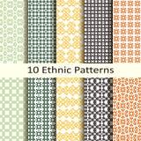 Set of ten ethnic patterns Royalty Free Stock Photo