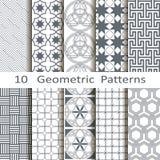 Set of ten geometric patterns Royalty Free Stock Image