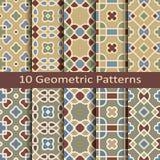 Set of ten geometric patterns Royalty Free Stock Images