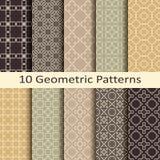 Set of ten geometric patterns. Set of ten  geometric patterns Stock Photography