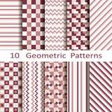 Set of ten geometric patterns Royalty Free Stock Photography