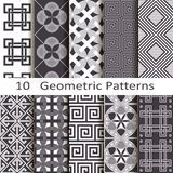 Set of ten geometric patterns Royalty Free Stock Photography