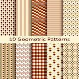 Set of ten geometric patterns vector illustration