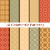 Set of ten geometric patterns. Set of ten vector geometric patterns Royalty Free Stock Photos