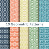 Set of ten geometric patterns Stock Photography