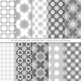 Set of ten geometric seamless patterns Royalty Free Stock Photo