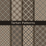 Set of ten gingham and tartan seamless vector patterns. design for clothing, packaging, covers Royalty Free Stock Photography