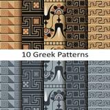 Set of ten greek patterns Stock Photo