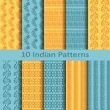 Set of ten indian patterns Stock Photo