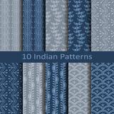 Set of ten indian patterns Royalty Free Stock Photos