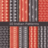 Set of ten indian patterns Royalty Free Stock Photography