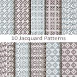 Set of ten jacquard patterns Stock Photos