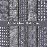 Set of ten modern patterns Royalty Free Stock Image