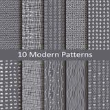Set of ten modern patterns stock illustration