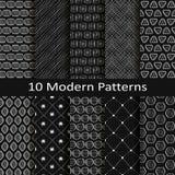 Set of ten modern patterns Royalty Free Stock Image